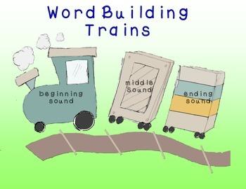 CVC Word Building Trains