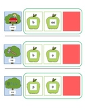 CVC Word Cards for Final Consonant Deletion- Apple Themed