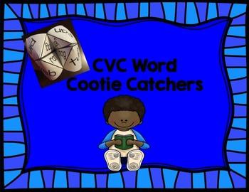 CVC Word Cootie Catchers