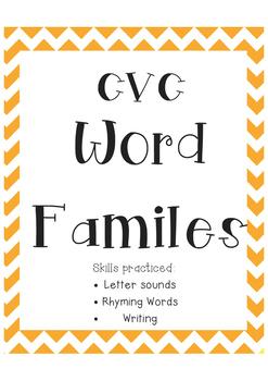 CVC Word Familes
