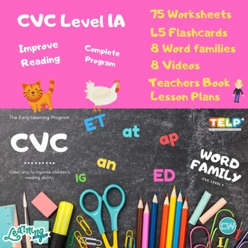 CVC & Word Families Activity Book