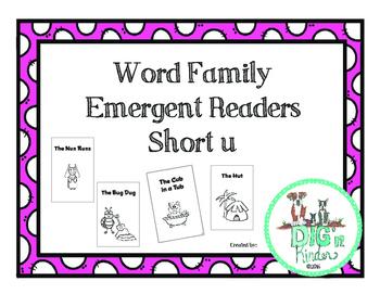 CVC Word Families Emergent Readers - Short u Words