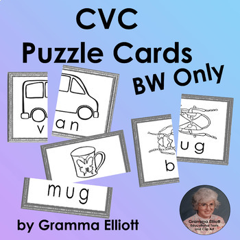 CVC Word Families Picture Word Cards for Word Walls, Match