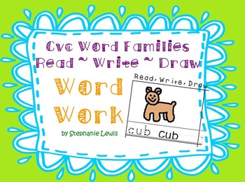 CVC Word Family Word Work | Read, Write, Trace, Draw **20