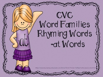 CVC Word Families -at Words