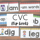 CVC Short Vowel Flip Books