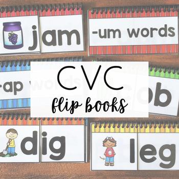 CVC Short Vowel Flip Books