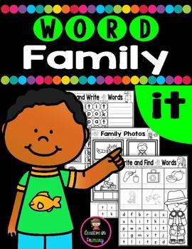 CVC Word Family IT Worksheets