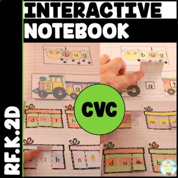 CVC Interactive Notebook Kindergarten Initial, Medial & Fi