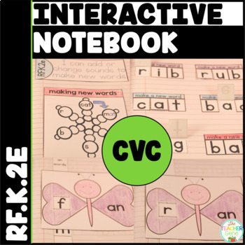 CVC Word Family Interactive Notebook Kindergarten Changing
