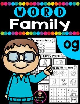 CVC Word Family OG Worksheets