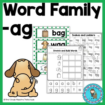 CVC Word Family Packet Word Family AG