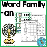Word Family Packet Word Family AN