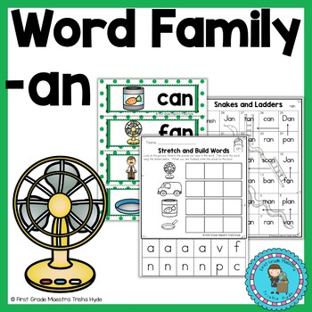 CVC Word Family Packet Word Family AN