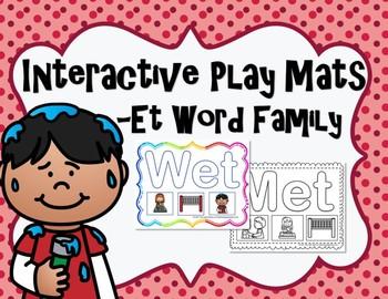 CVC Word Family Play Mats -Et Words
