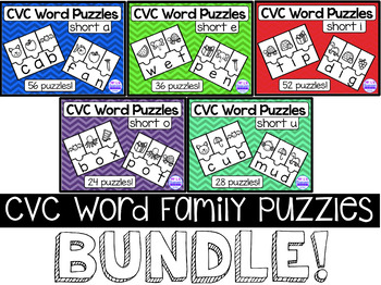 #JollyGoodBundleSale CVC Word Family Riddles Bundle