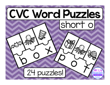 CVC Word Family Riddles - Short O