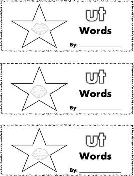 CVC Word Family Stamp Books - Short U Words