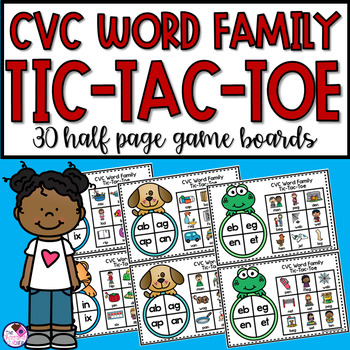 #dealsinOctober CVC Word Family Tic-Tac-Toe 30 Game Boards!