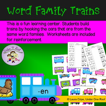 CVC Word Family Trains: A Learning Center