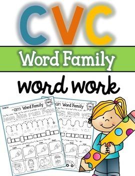 CVC Short Vowel Morning Work
