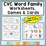 CVC Word Family Workbook Volume 1