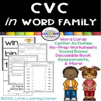CVC in Word Family Packet - Short i