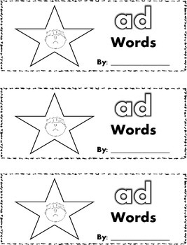 CVC Word Family (ad words) Stamp Book {FREEBIE}