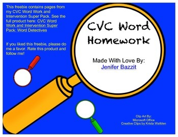 CVC Word Homework