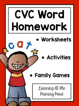 CVC Word Worksheets and Family Literacy Games