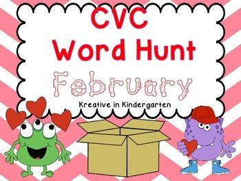 CVC Word Hunt- Febraury