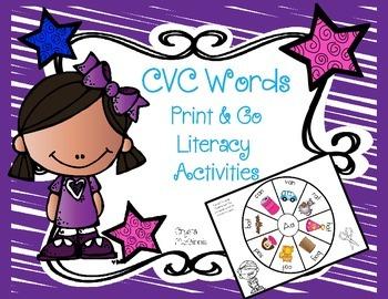 CVC Word Print & Go Activities
