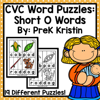 CVC Word Spelling Puzzles: Short O Words