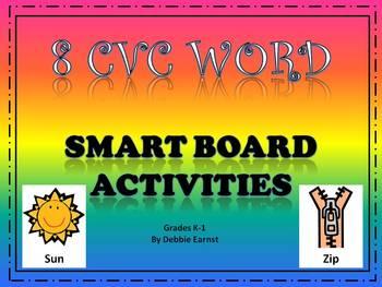 CVC Word Smart Board Activities