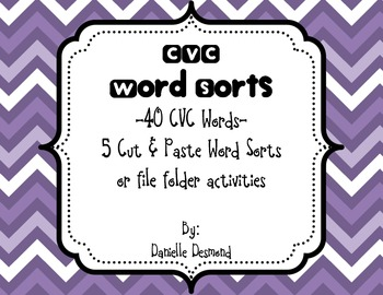 CVC Word Sorts Color