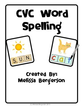 CVC Word Spelling Cards