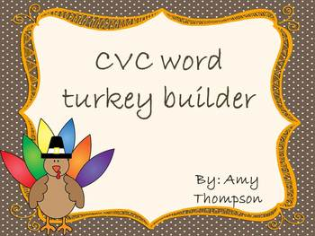CVC Word Turkey Builder