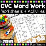 CVC Word Work ~ Beginning, Middle & Ending Sounds Practice