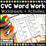 CVC Word Work ~ Beginning, Middle & Ending Sounds Practice