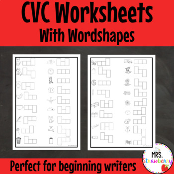 CVC Wordshapes Worksheets For Initial, Medial and Final So