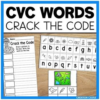 CVC Crack the Code Word Work