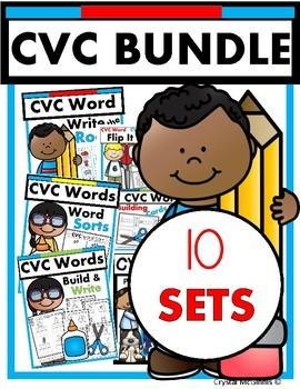 CVC Words BUNDLE! Half Price (puzzles, printables, games,