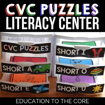 Word Families CVC Words Center