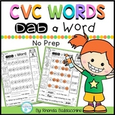 CVC Words ~ Dab a Word