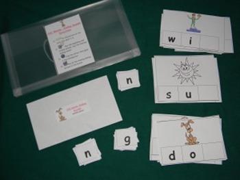 CVC Words Ending sounds 2nd version Literacy Center - Hard Good