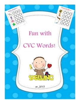 CVC Words Fun Spelling Mats