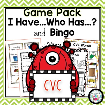 CVC - I Have, Who Has and Bingo Game Pack BUNDLE (12 Games)