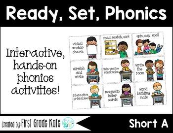 Short Vowels CVC Short A Interactive Activities (First Gra