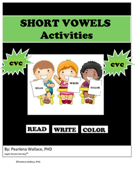 CVC Words Short Vowels Read, Write, and Color NO PREP Activities