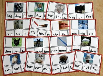 CVC Words Task Cards (w/Real Photos)